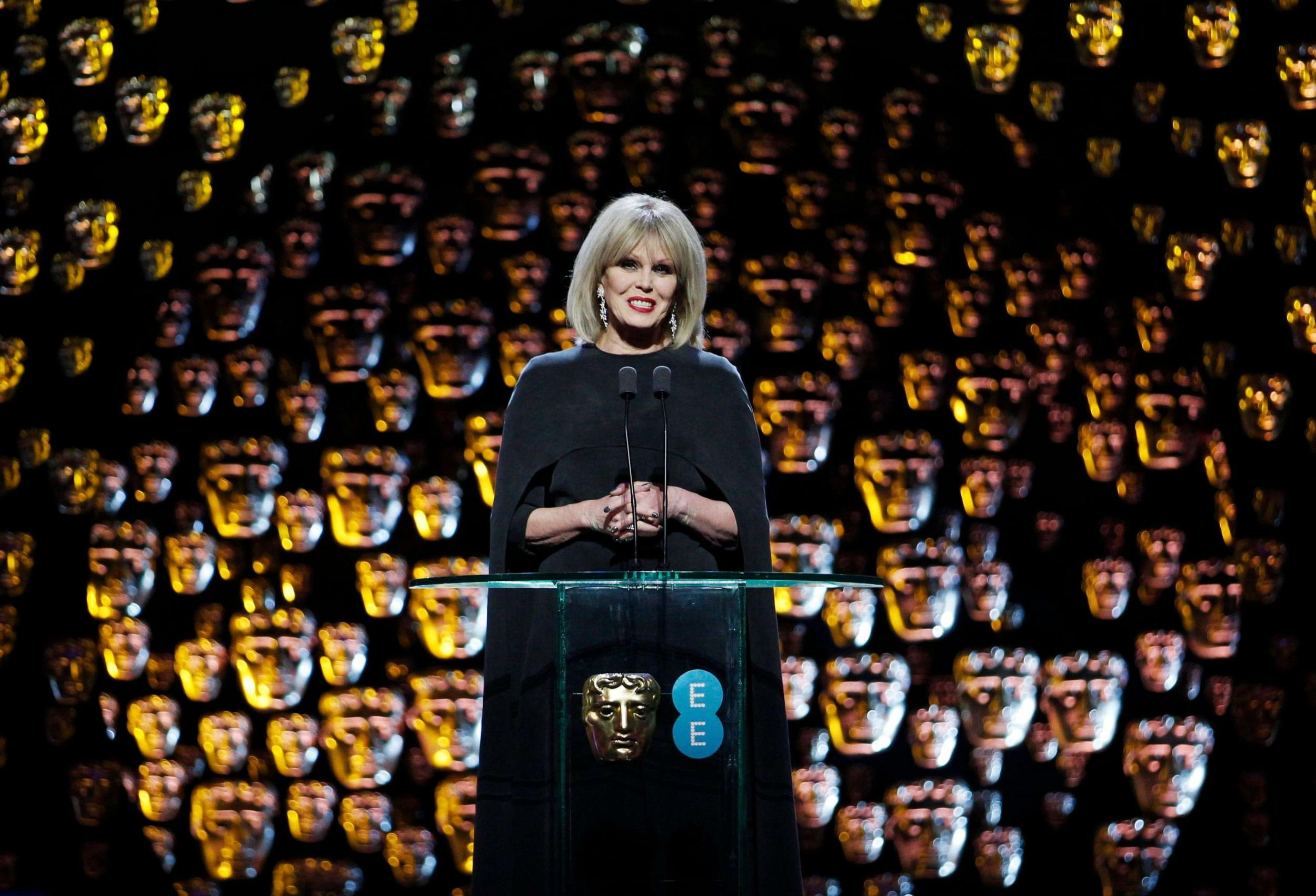 Serve On ambassador Joanna Lumley hosting the recent BAFTA awards.