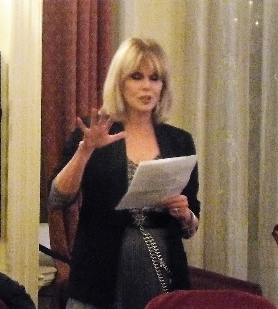 Serve On ambassador Joanna Lumley at a fund-raising dinner at the Cavalry and Guards Club urges industry leaders to donate towards the cost of a CEO to help guide the growth of the charity.