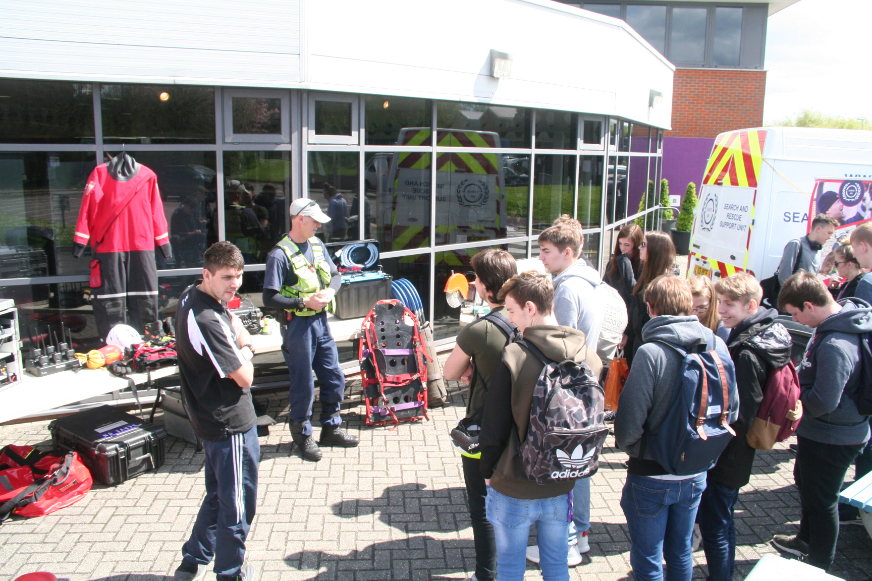 Serve On Community Resilience Team volunteers man our stall at the Basingstoke College of Technology Health and Wellbeing Fair
