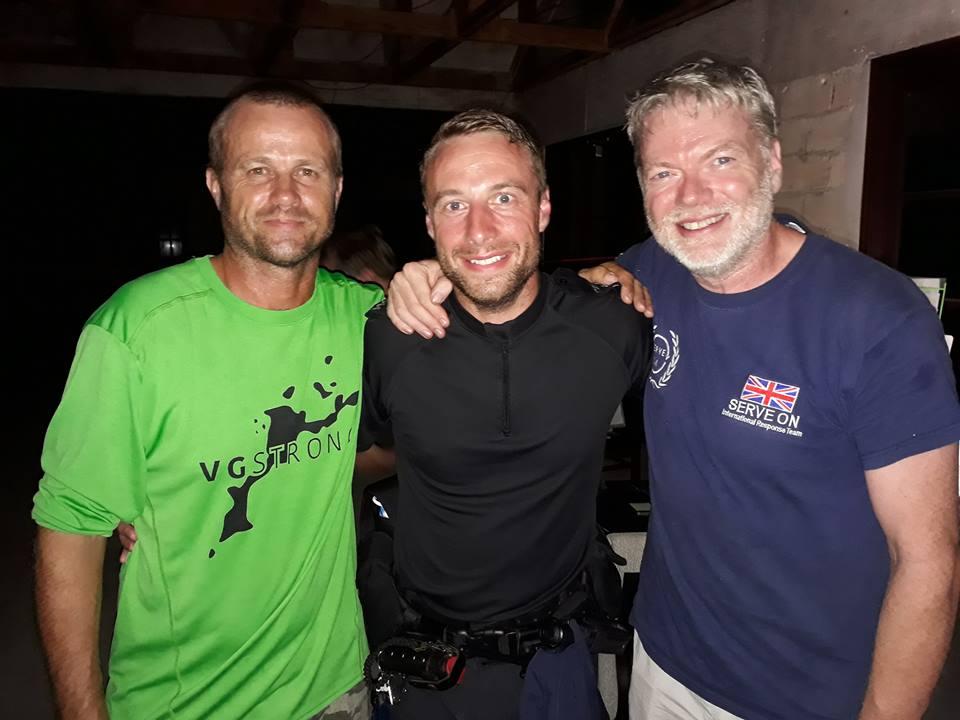 Three Simons. Simon Fox, PC Simon and our Simon at VG Recovery base last September.