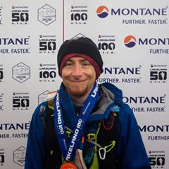 Serve On International Response Team member Jay McNeil after completing the Lakeland 100 Ultra Marathon.