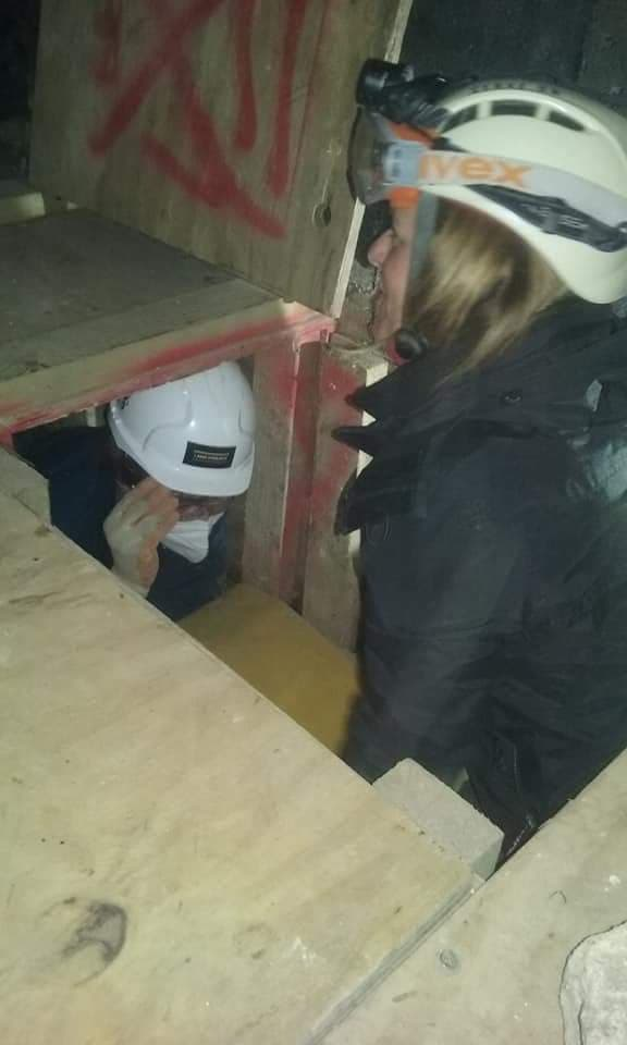 Vets from the RCVS were sent into the tunnels that Serve On's International Response Team volunteers use for collapsed building/search and rescue training in earthquake scenarios.