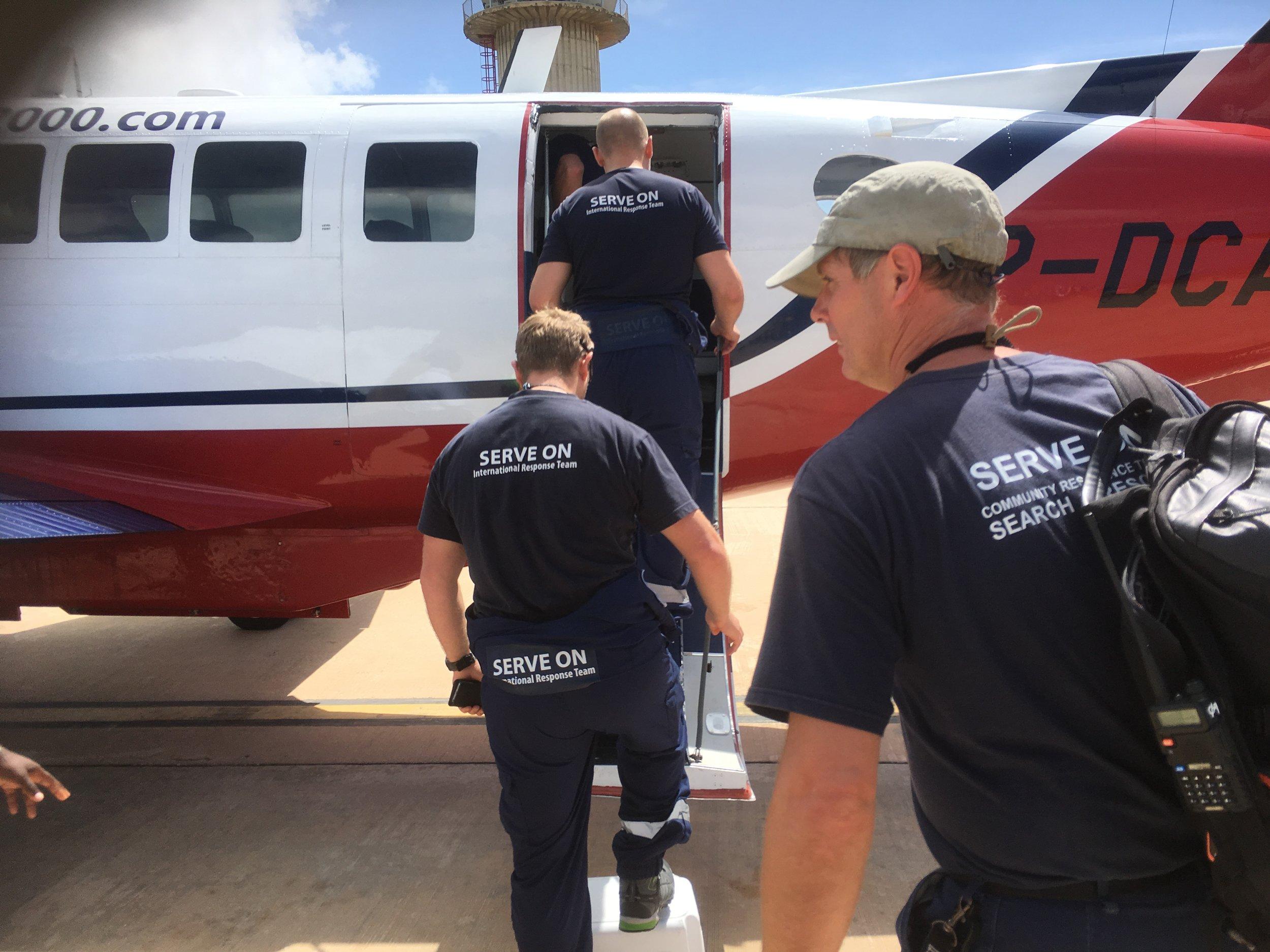 Serve On's International Response Team volunteers head for the British Virgin Islands in the wake of Hurricane Irma in September 2017