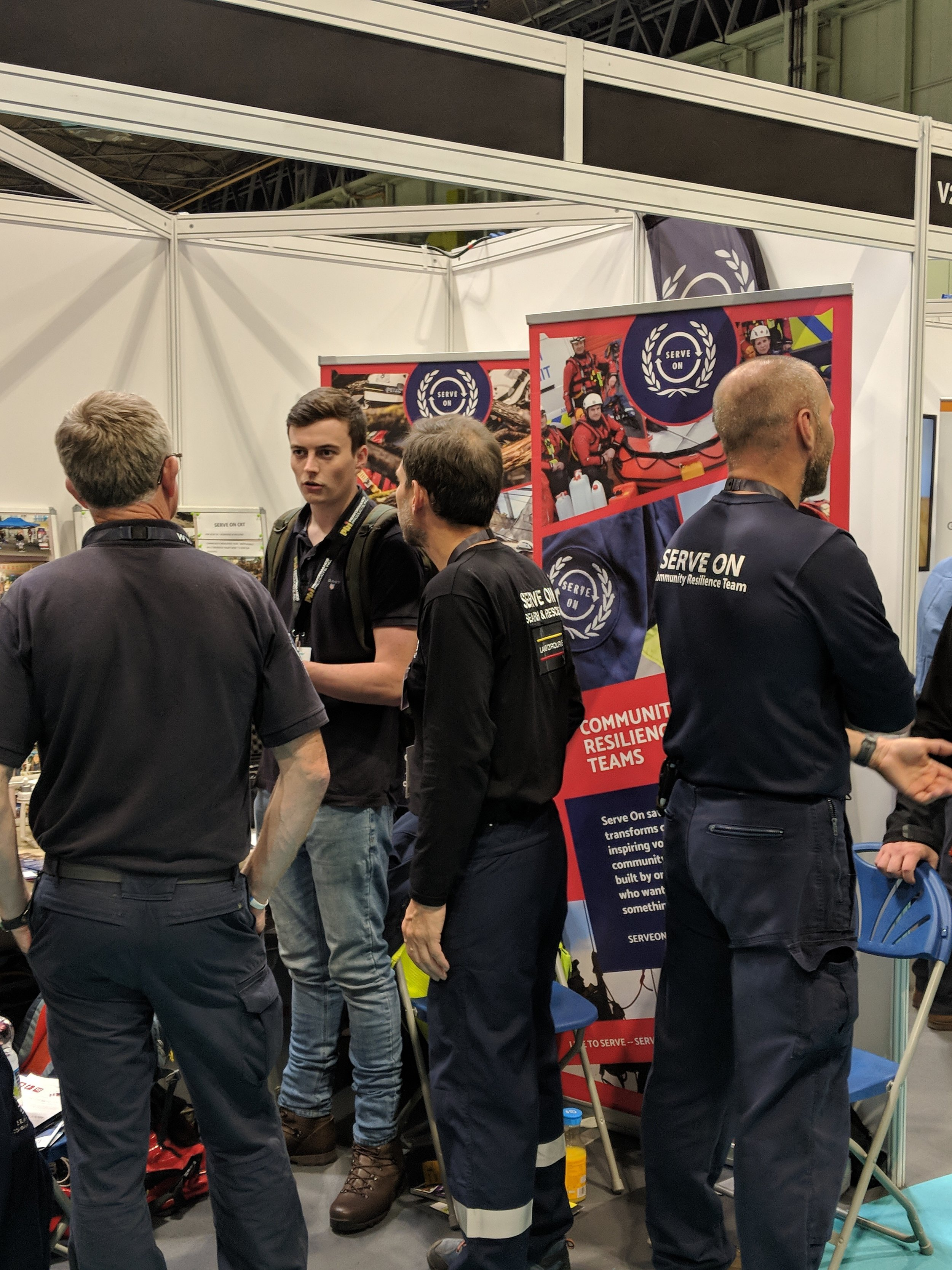 Serve On volunteers manning the stand at this year's @emergencyukshow at Birmingham NEC.