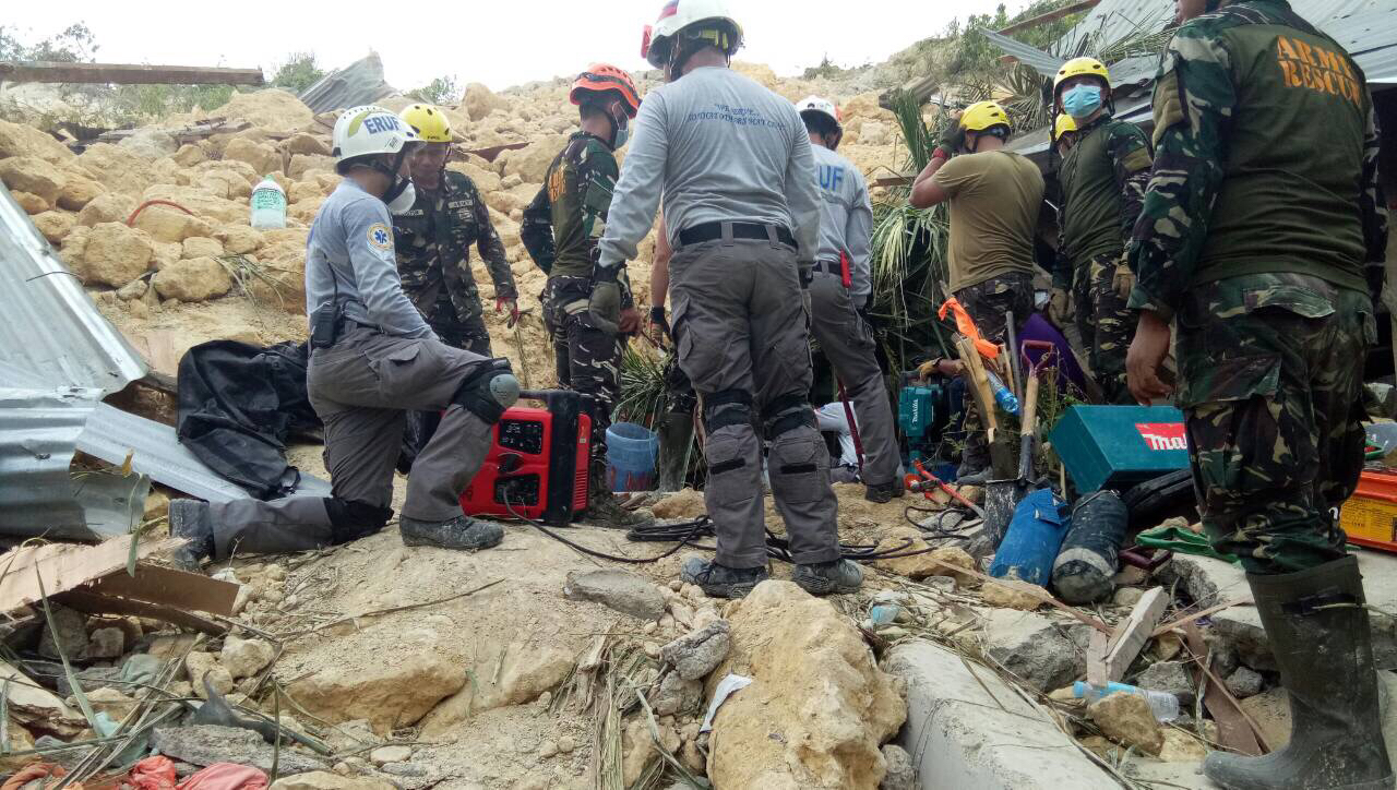 Serve On's friends from the Emergency Response Unit Foundation (ERUF) on Cebu, Philippines, have been trying to find survivors of a massive landslide near Naga city.