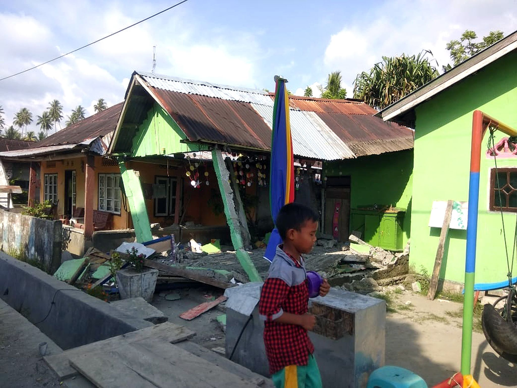 Scenes of devastation in Palu, Sulawesi, Indonesia, after the 7.5 magnitude earthquake and tsunami. Serve On volunteers have been on stand-by to help if required. Pictures issued by the local disaster management agency BNPB.