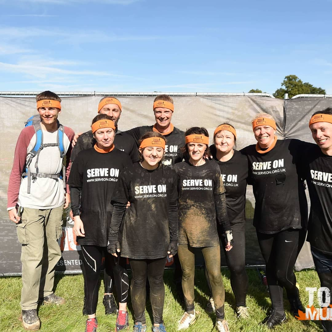Serve On volunteers after completing the @ToughMudder course.