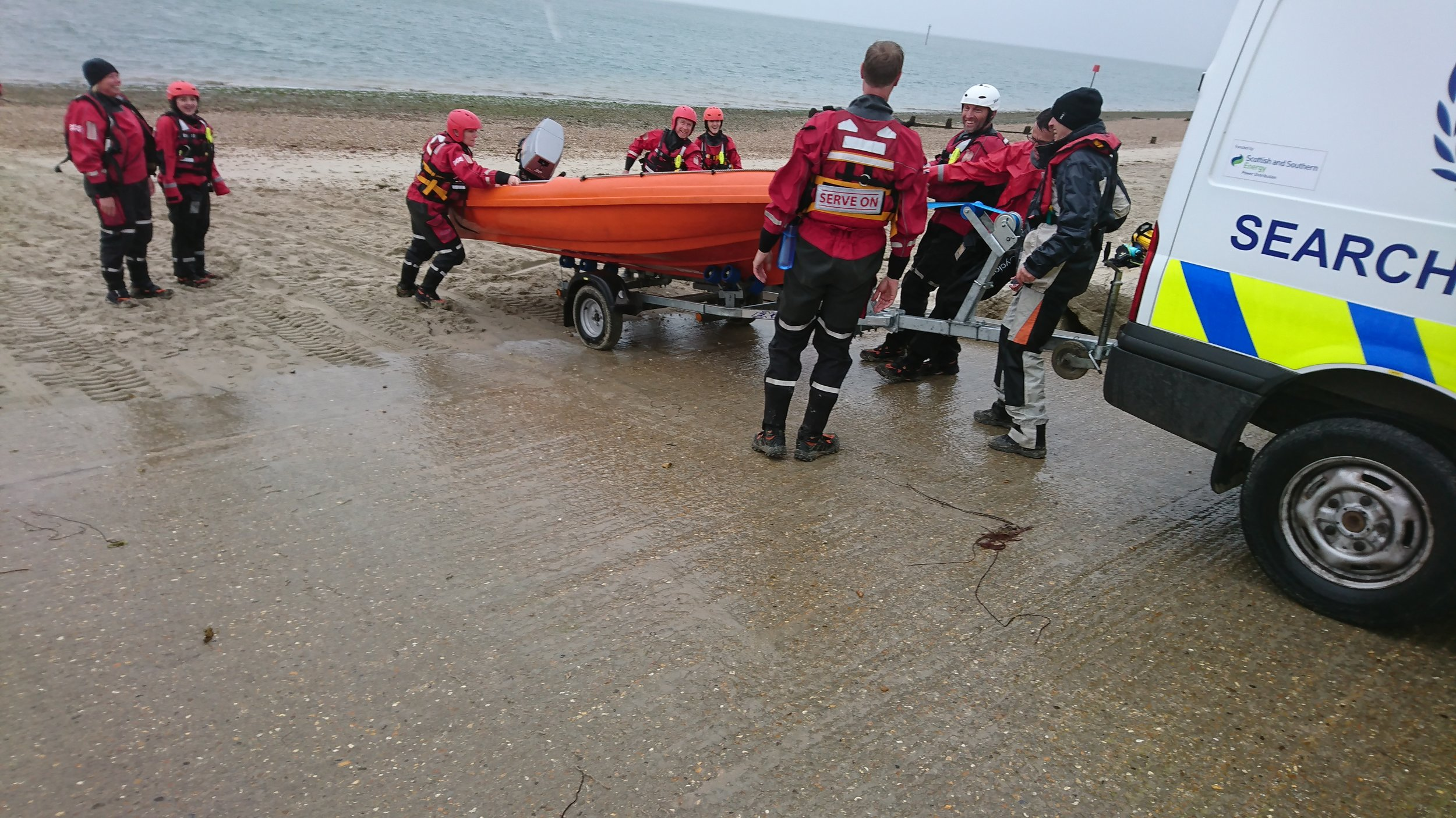 Serve On volunteers providing safety cover at a Hayling Island Sailing Club event.