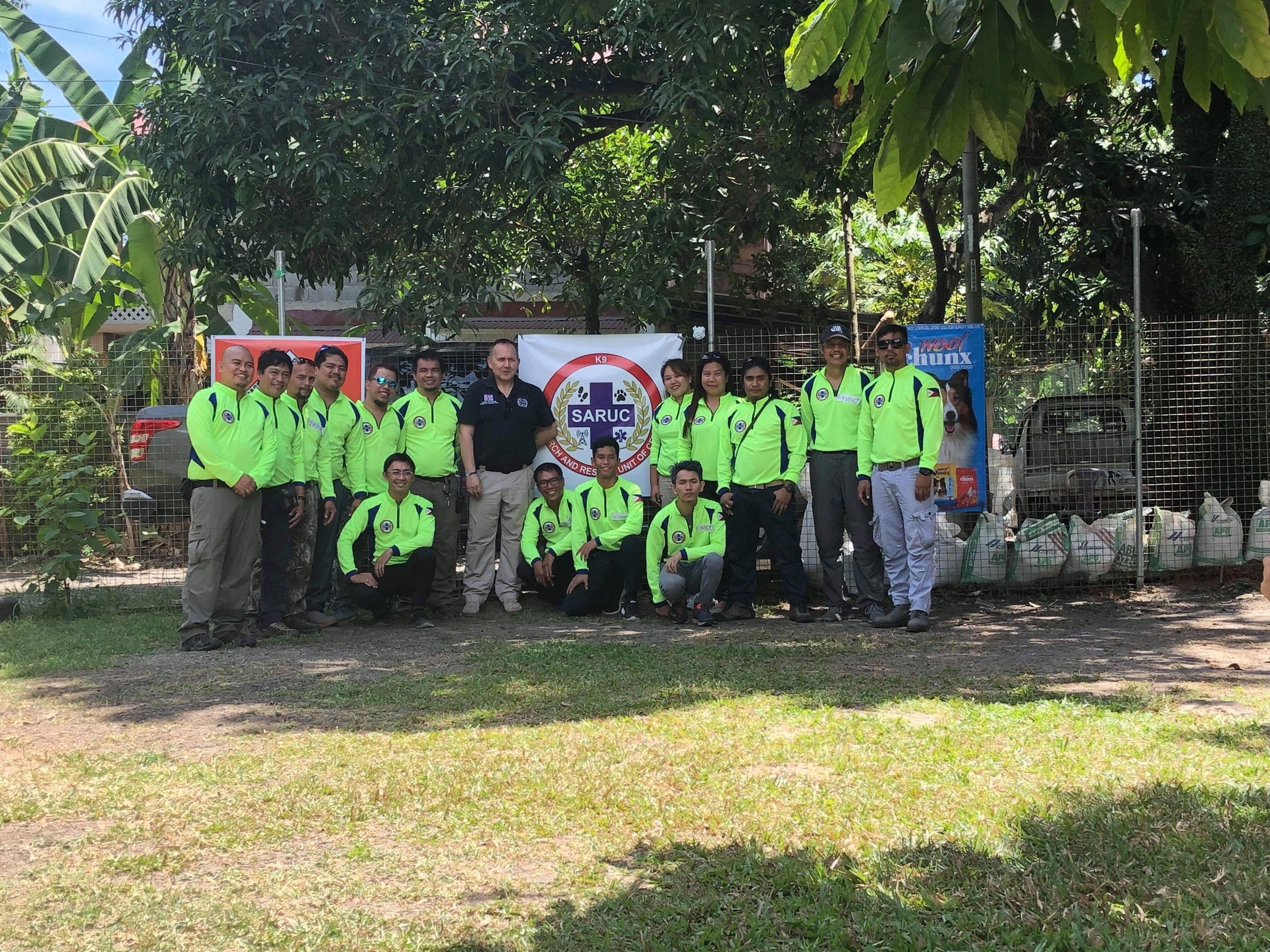 A new dog team for the Philippines - the Search and Rescue Unit of Cebu (SARUC) - has been launched with the help of Serve On volunteers.