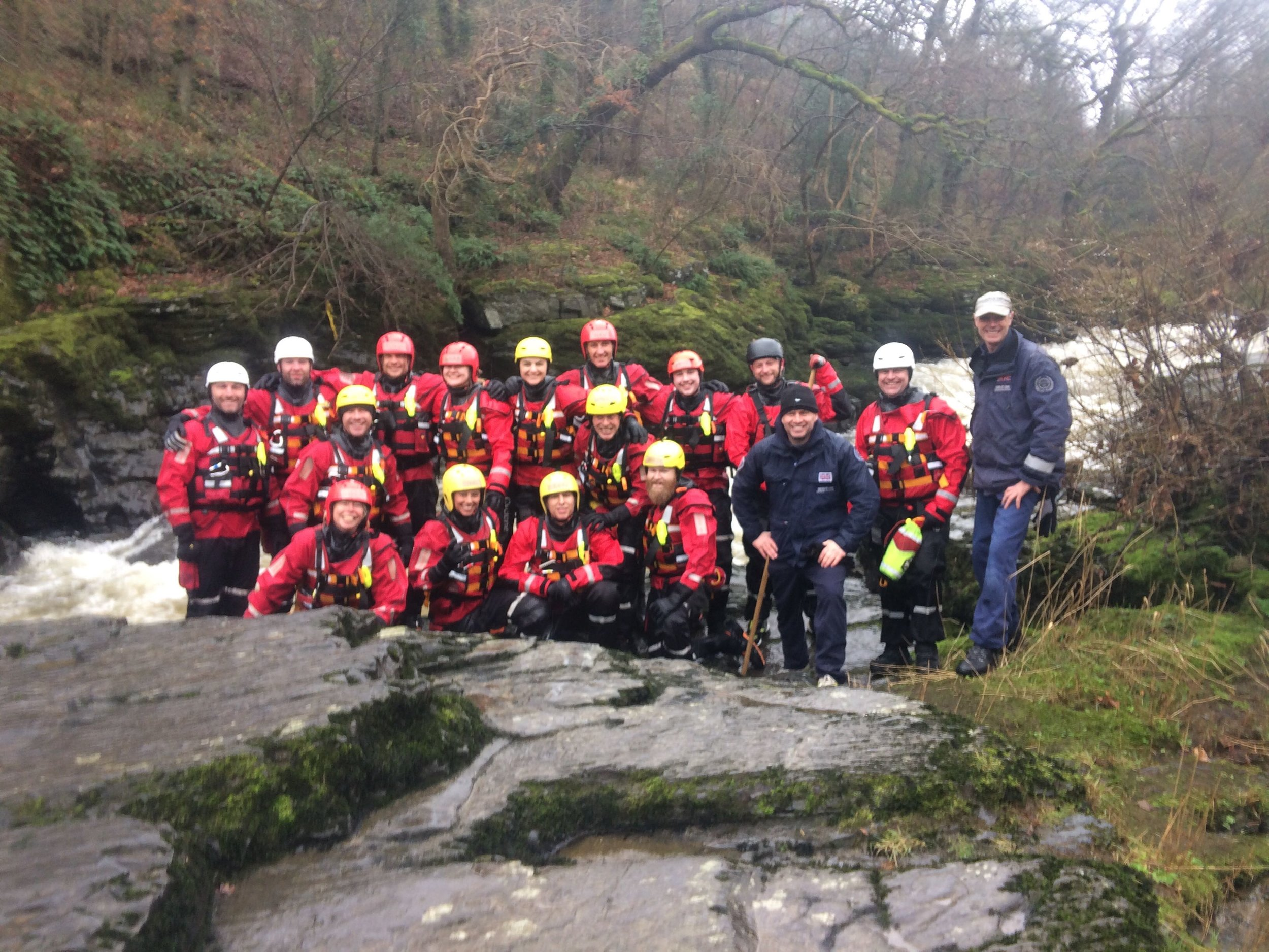 Serve On volunteers were in the River Dee in Llangollen at the weekend completing training to qualify as Swiftwater Rescue Technicians.