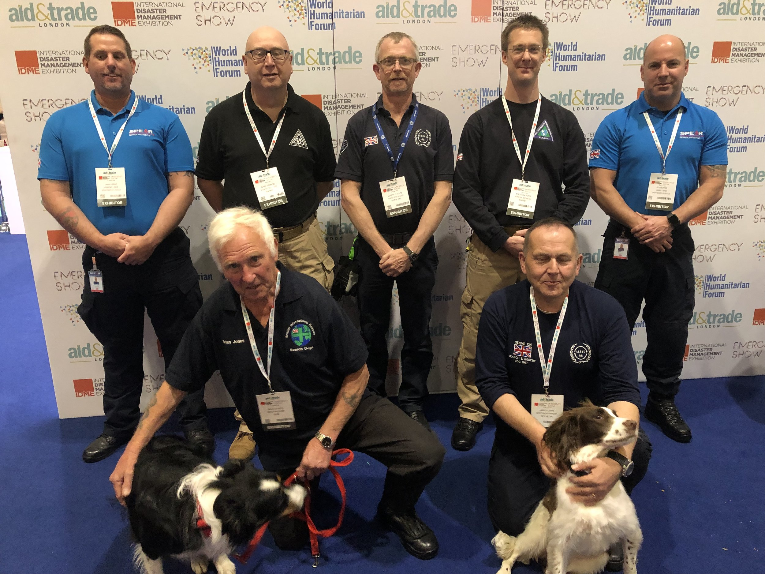 Serve On volunteers joined with SARAID, SPEAR and BIRD volunteers to launch the new UKIVRA alliance at the Aid&Trade International Disaster Management Exhibition at London's ExCel