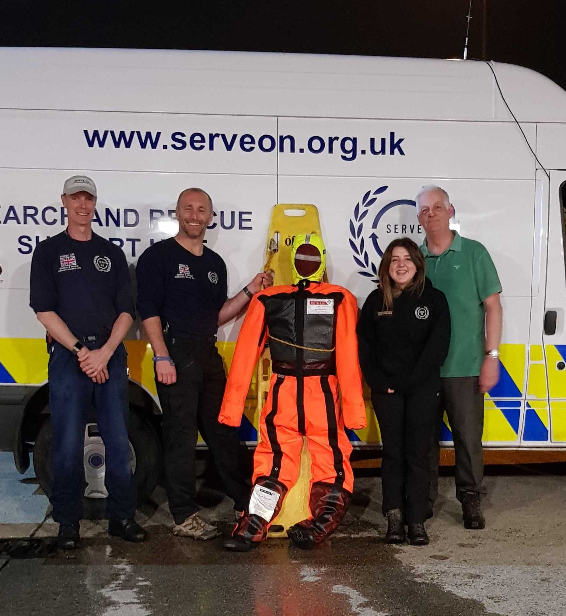'Cassie', our new rescue manikin, kindly donated by Ruth Lee Ltd, gets to meet members of the Community Resilience Team…before they threw her in the river!