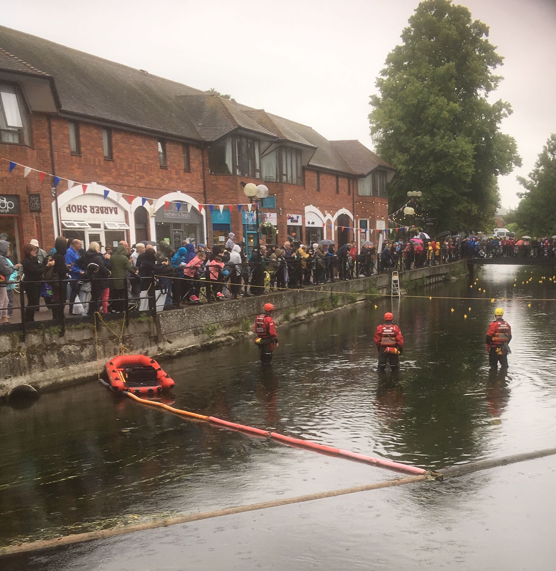 Serve On volunteers provided safety cover for the Salisbury Duck Race, run by Spire FM in aid of the Stars Appeal.