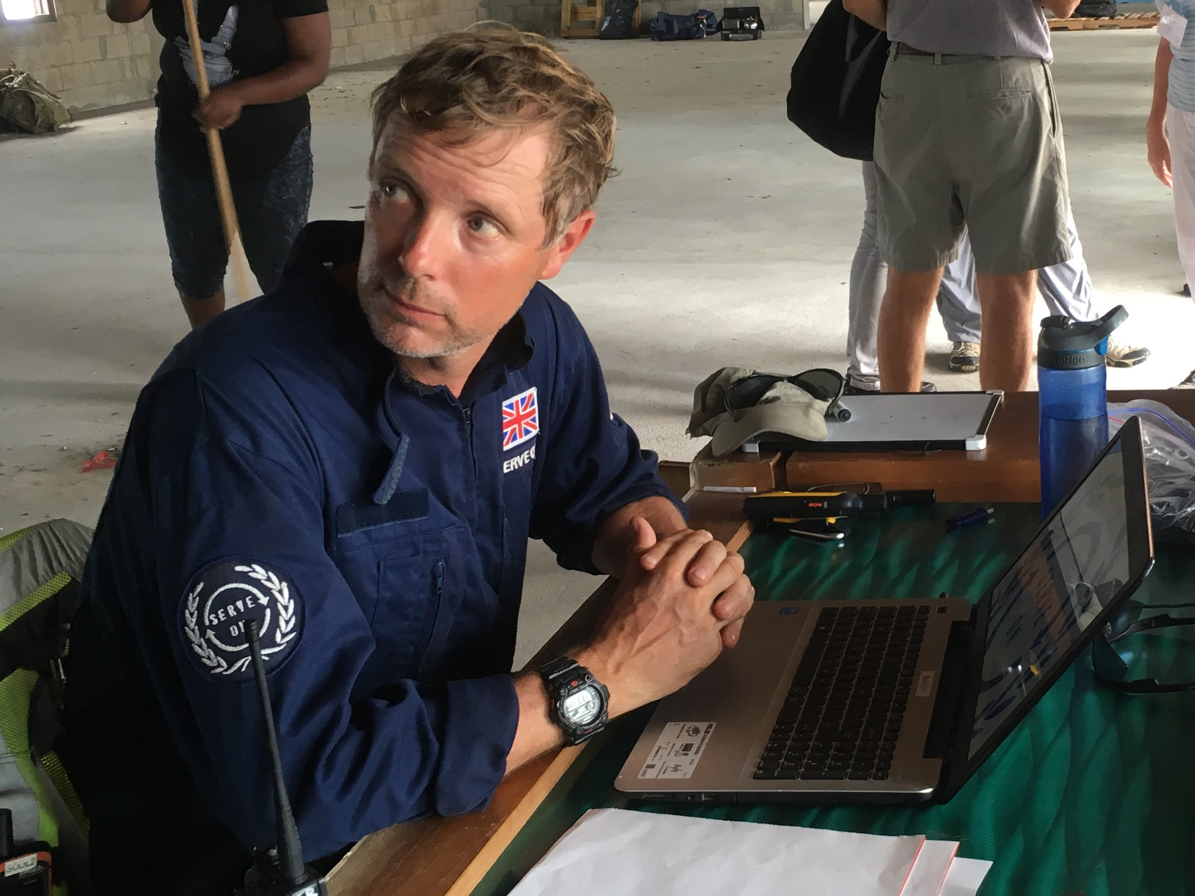 Serve On operations manager Craig provided satellite communications for the local recovery group on Virgin Gorda in the wake of Hurricane Irma in 2017. Now a Serve On team will return to install new radio equipment to help islanders in the event of a future hurricane.