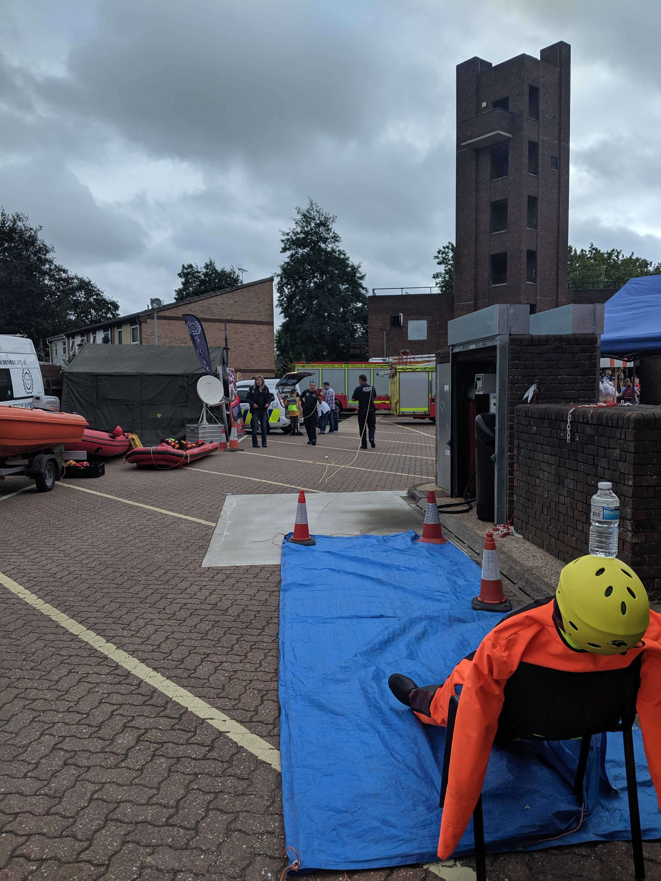 Members of Serve On's soon-to-be-launched Portsmouth Community Resilience Team set up a Throwbag Challenge at Southsea Fire Station open day in aid of the Firefighters Charity.