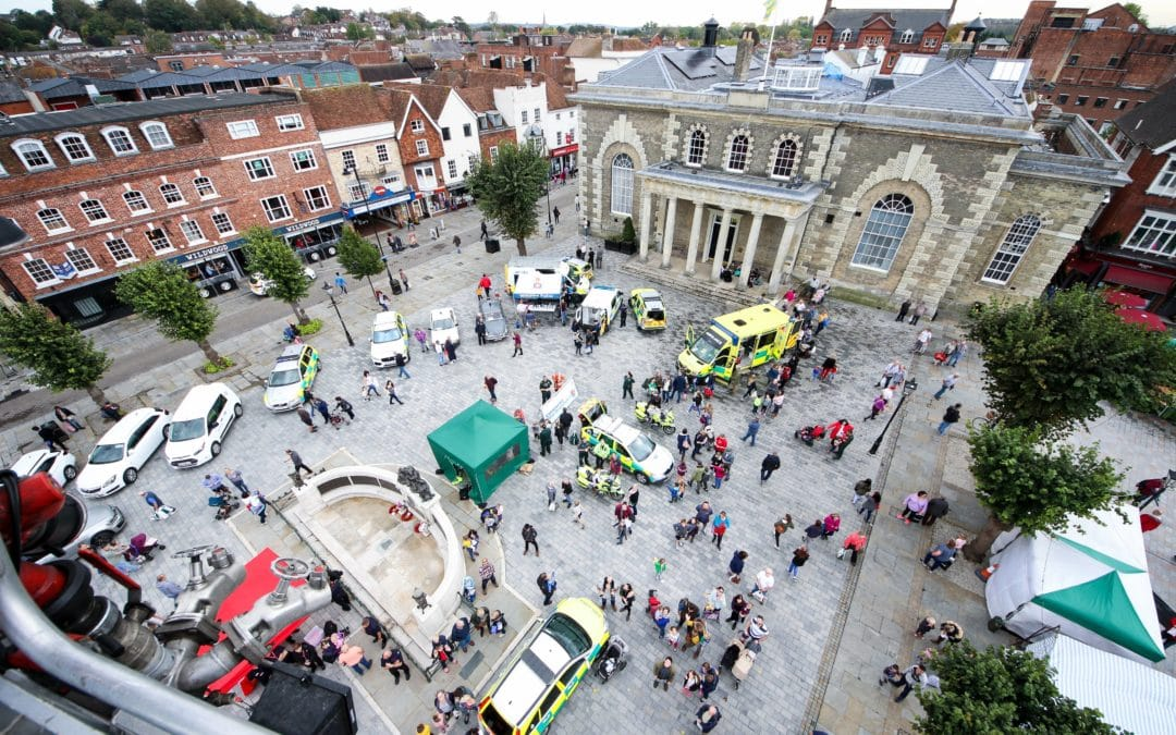 Emergency Services Day event in Salisbury Guildhall Square. Photo courtesy Your Valley News