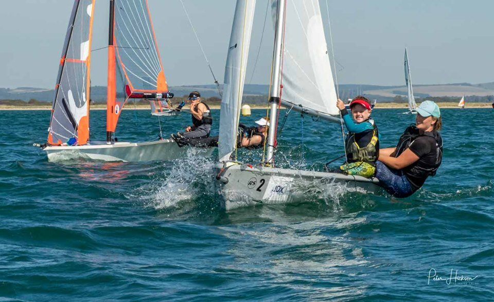 Hayling Island Sailing Club action. Photograph by Peter Hickson.