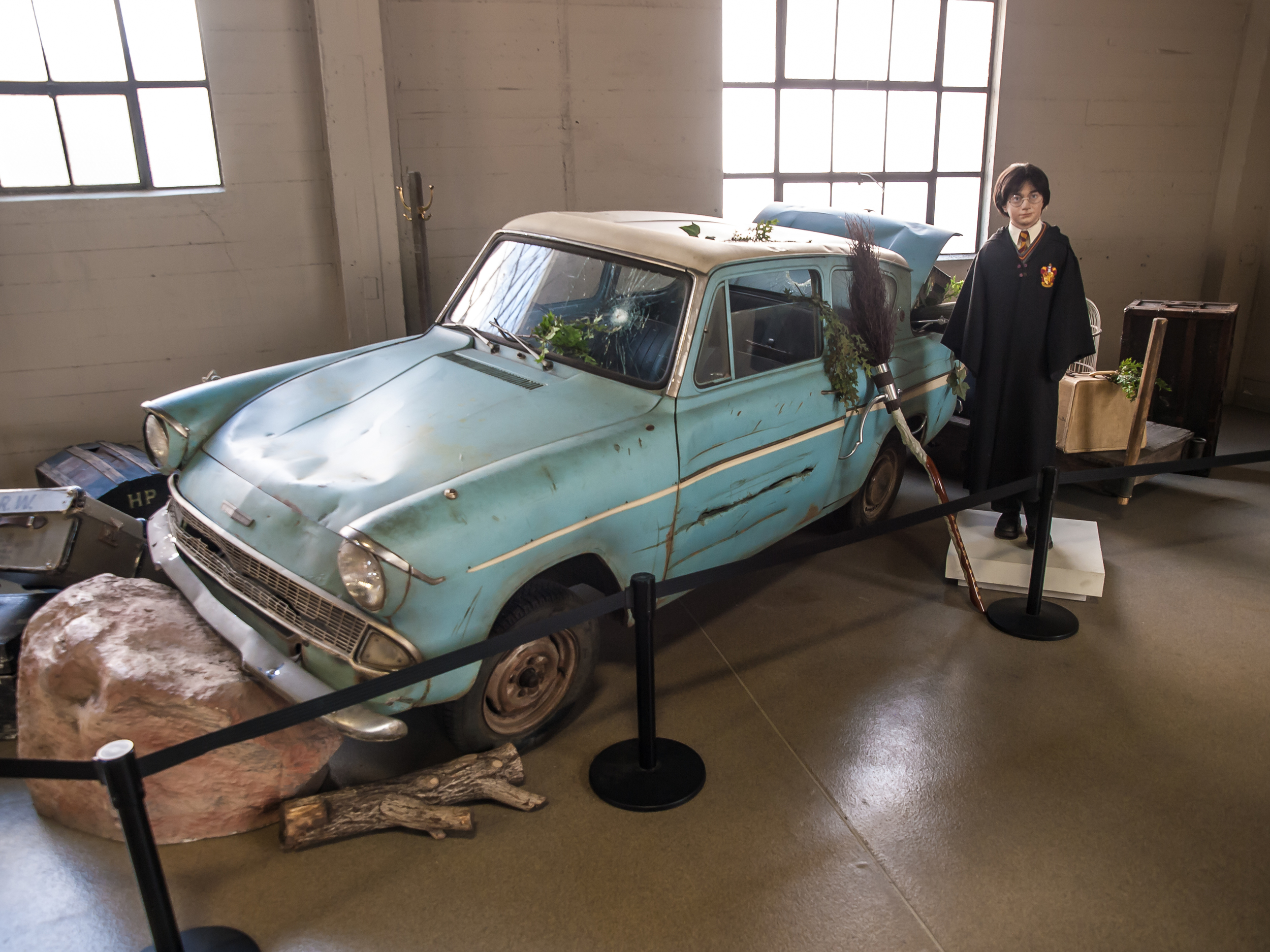 Only Harry Potter gets a flying car for now