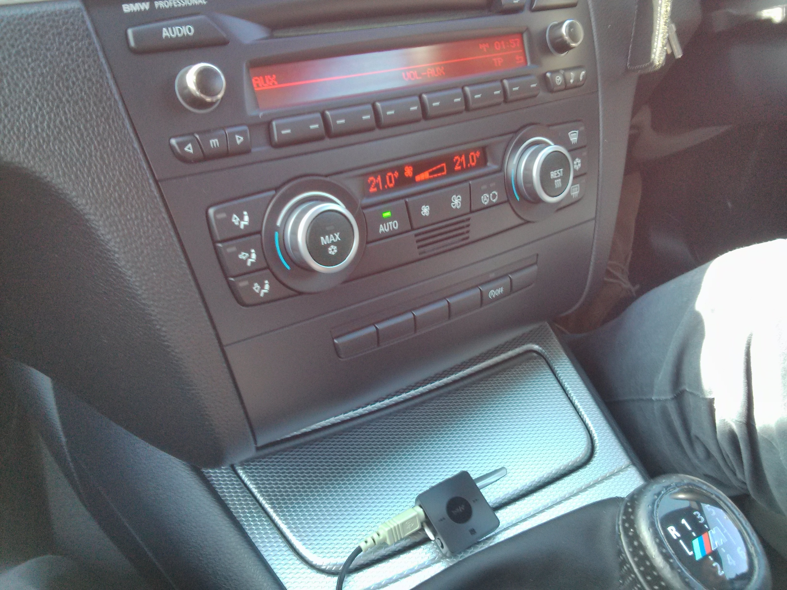 Careful mounting could see this BMW stereo go wireless very cheaply