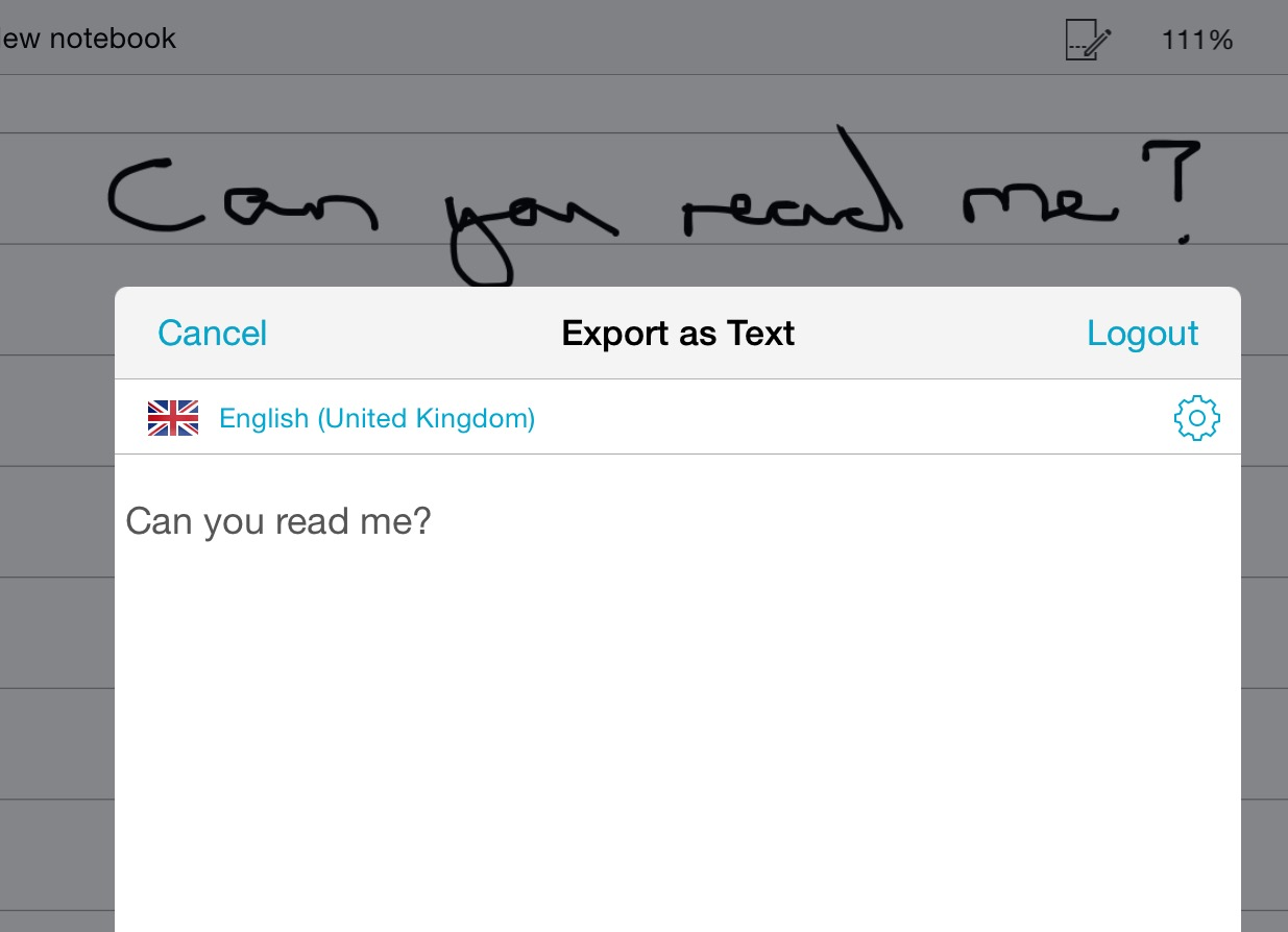 Sadly, that's as good as my handwriting gets - generally good results from the text recognition though
