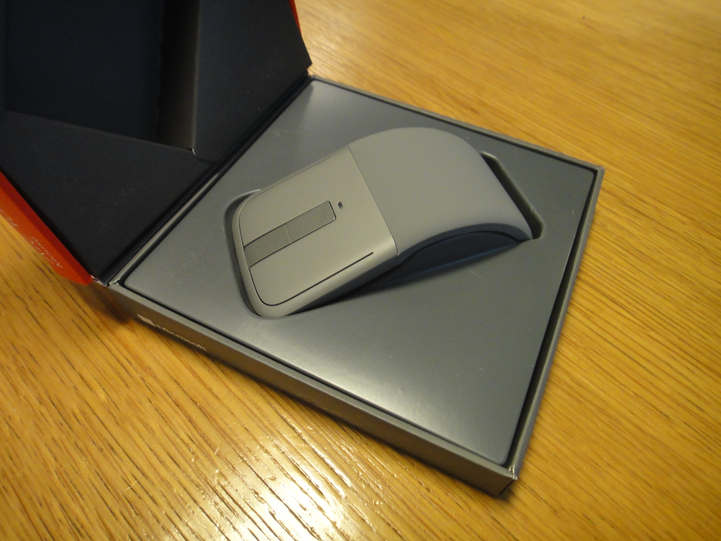 Great for travel - The Microsoft Arc Touch folds flat