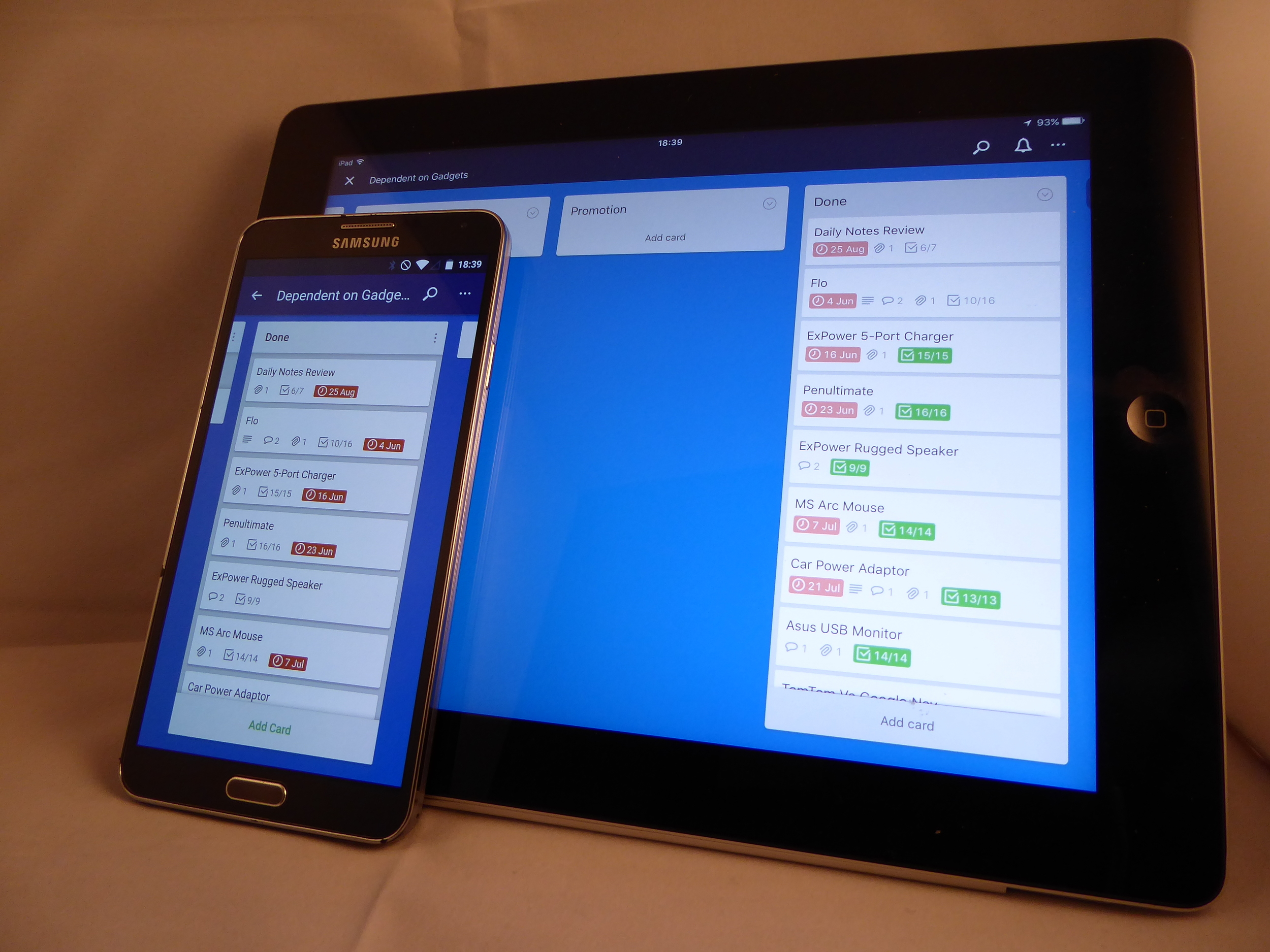 Trello apps run well whether you have an Android or IOS gadget