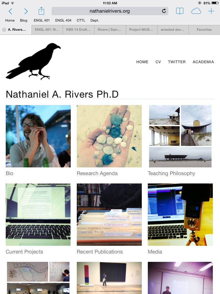 screen capture of new site: www.nathanielrivers.org