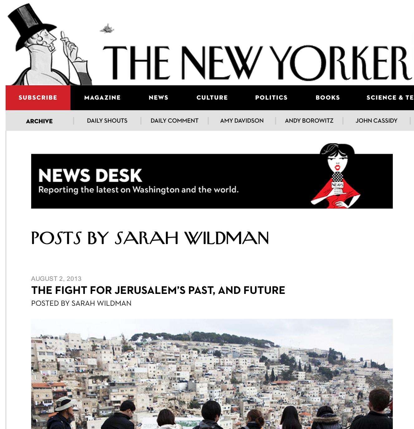 The Fight For Jerusalem's Past