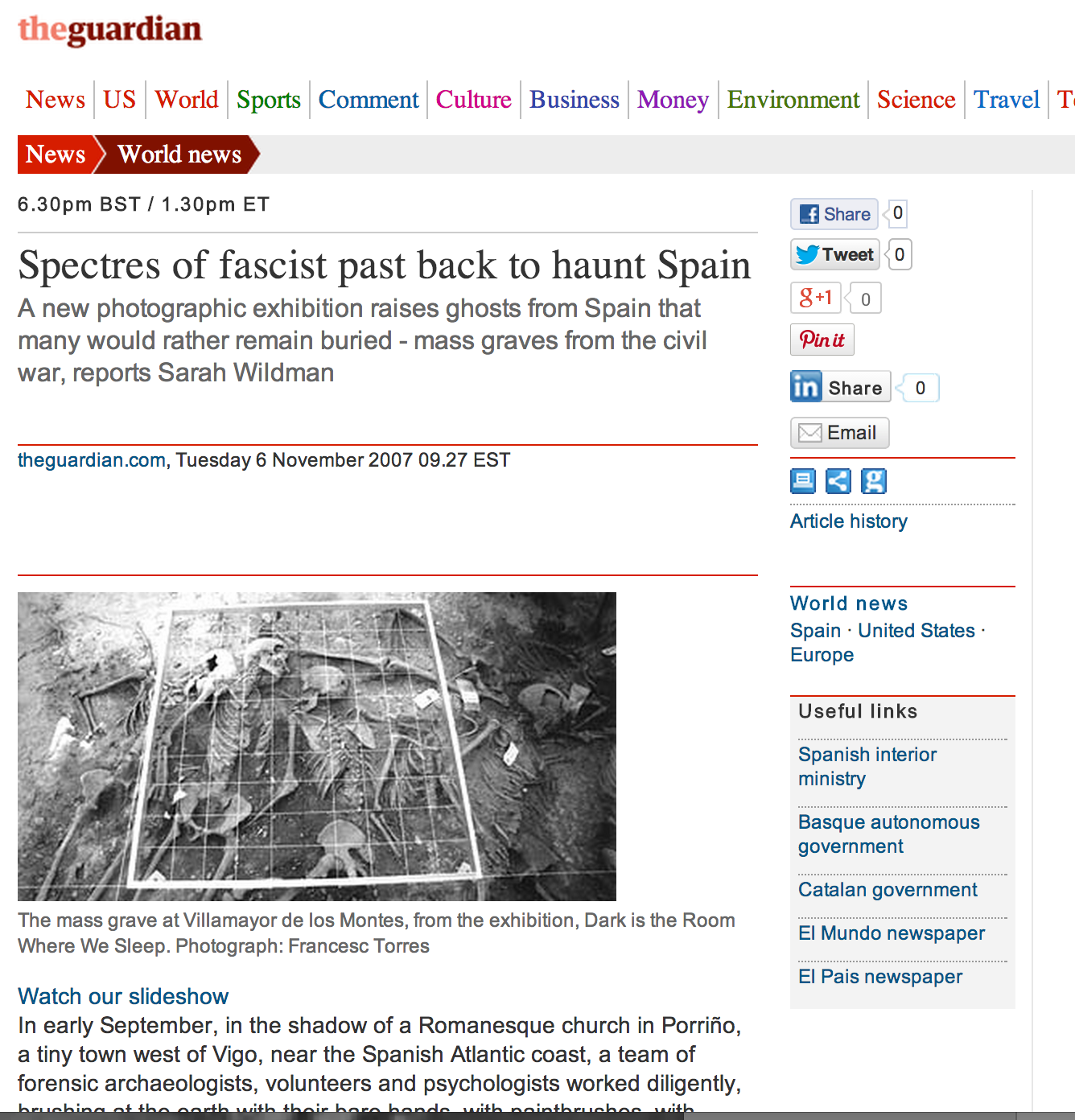 Spectres of Fascist Past