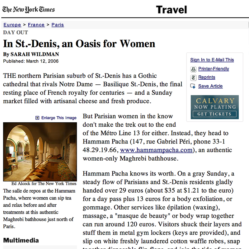 In St.-Denis, an Oasis for Women