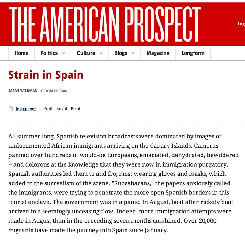 Strain in Spain