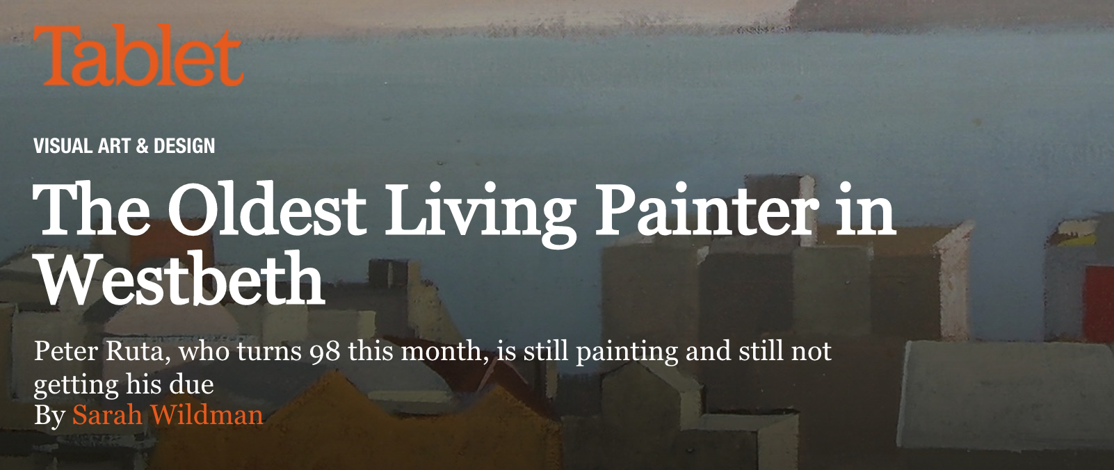 Peter Ruta Oldest Living Painter in Westbeth