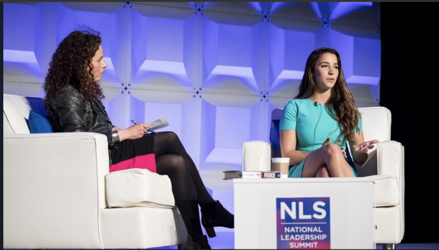 Interviewing Aly Raisman about #MeToo at ADL National Leadership conference