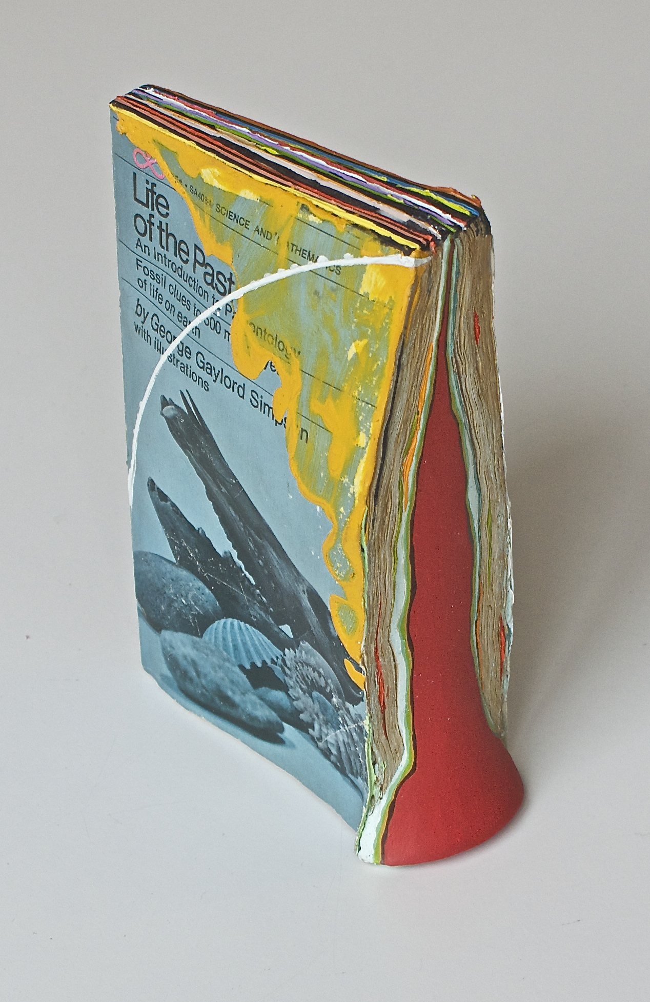 Life of the Past 2016  acrylic on hydrocal and found book  7.25 x 4.5 x 2.5