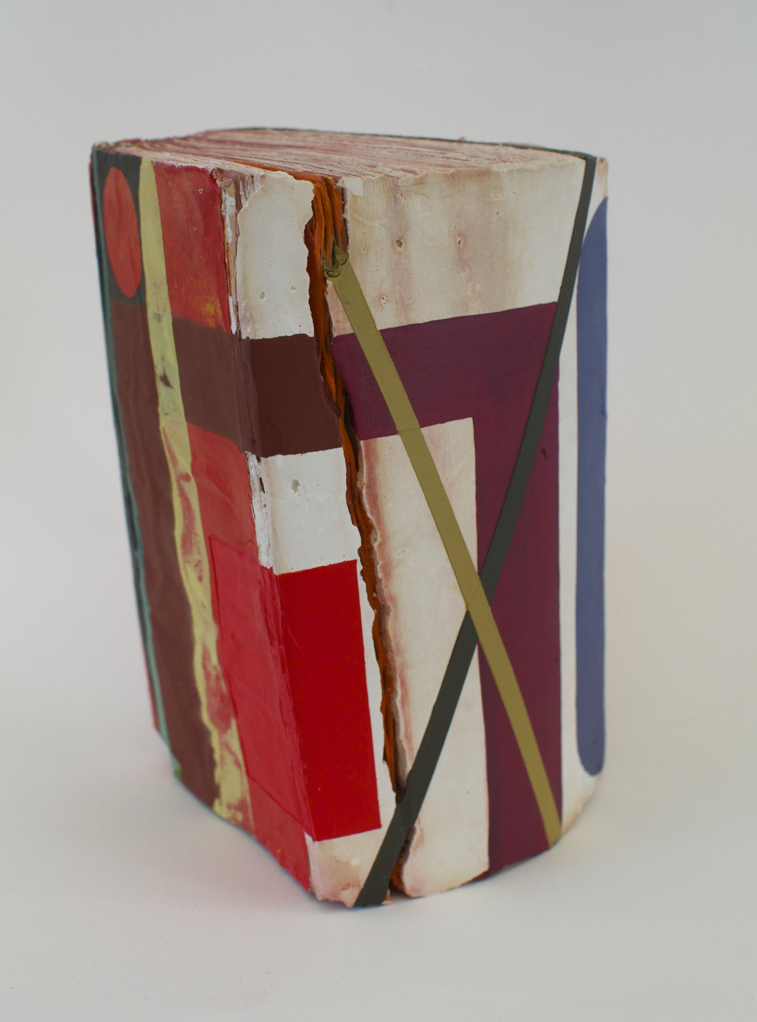 Word Problems 2016  acrylic on hydrocal and found book  7.5 x 4.5 x 4.5