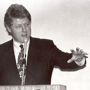 President Clinton at Hinckley Institute Banquet (1991)