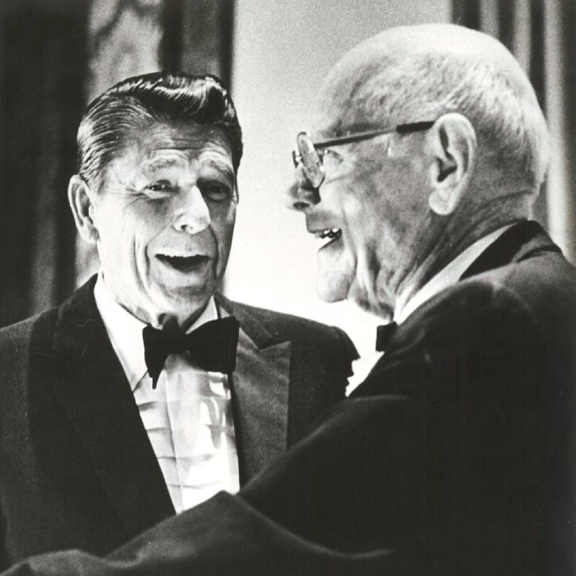 Robert H. Hinckley with President Reagan (1977).