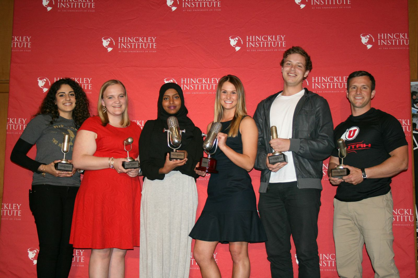 The winners from Left to Right: Nora Abu Dan, Rachael Palmer, Sabrina Abdalla, Emily Glende, Devin Price, and Chaz Allen.