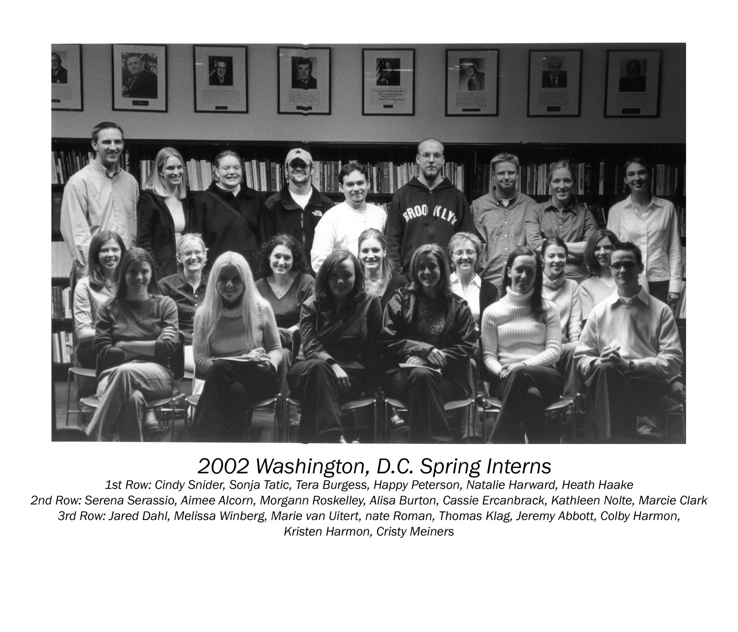 2002 Washington, D.C. Spring Interns copy.jpg