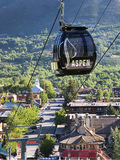 Downtown Aspen Colorado on a typical summer morning.  Photo credit: City of Aspen