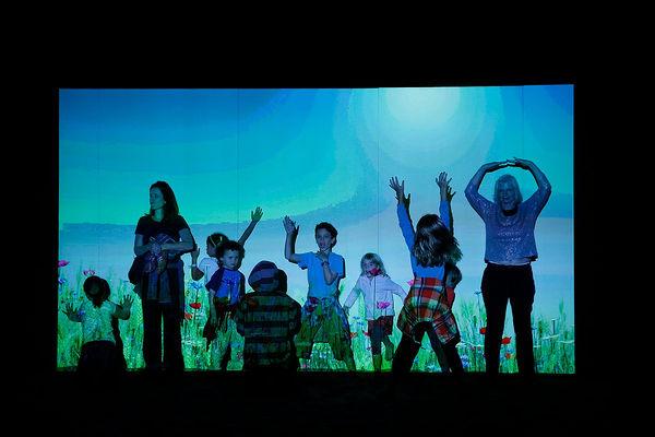 GLOWbal, Image Still, Audience Participation, Karen Atkinson, 2013. BEFORE
