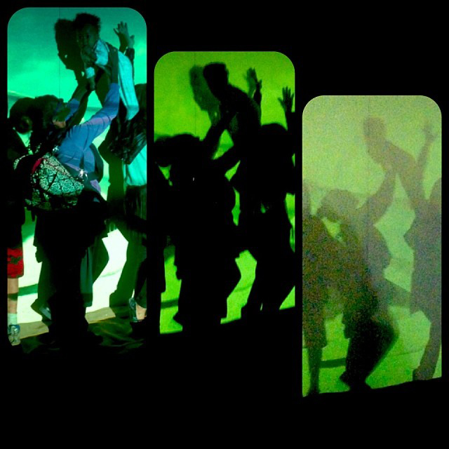 GLOWbal, Image Still, Audience Participation, Karen Atkinson, 2013. Three Phases.