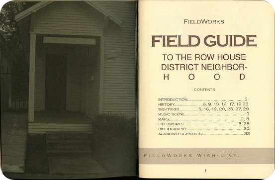 FieldWorks Field Guide, 2004, Project Row Houses, Karen Atkinson, Nancy Ganecheau, Jane Jenny. Page 1-2.