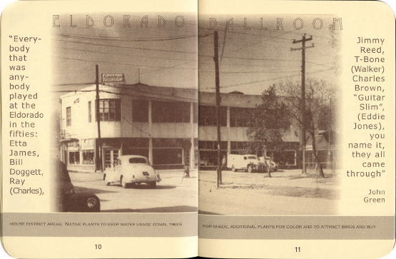 FieldWorks Field Guide, 2004, Project Row Houses, Karen Atkinson, Nancy Ganecheau, Jane Jenny. Page 11-12.