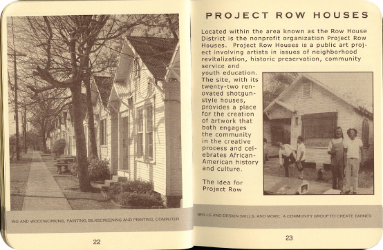 FieldWorks Field Guide, 2004, Project Row Houses, Karen Atkinson, Nancy Ganecheau, Jane Jenny. Page 23-24.