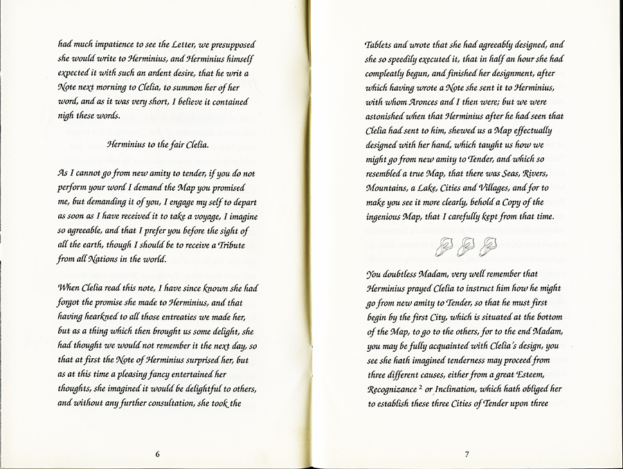 Remapping Tales of Desire: writing across the abyss, 1992. Pages 6 and 7.