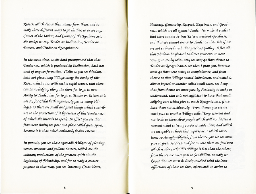 Remapping Tales of Desire: writing across the abyss, 1992. Pages 8 and 9.
