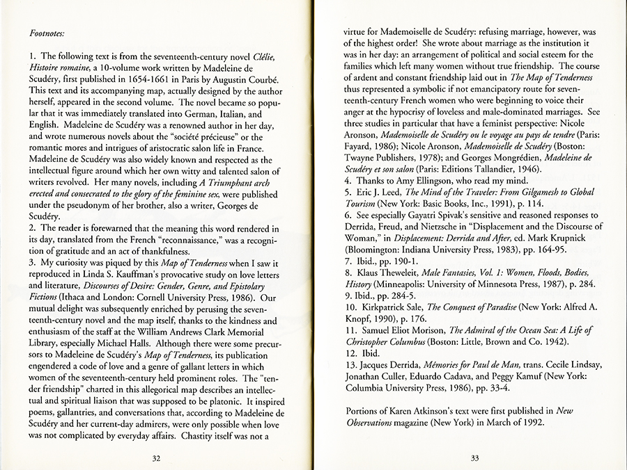 Remapping Tales of Desire: writing across the abyss, 1992. Pages 32 and 33.
