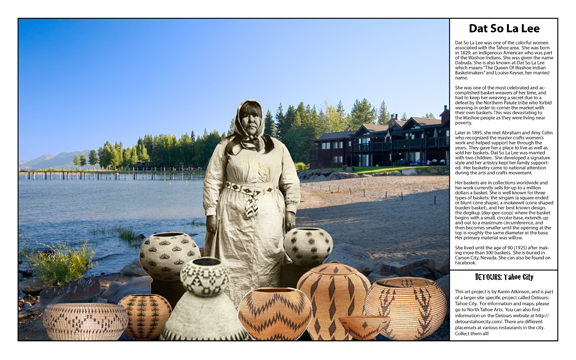 """""""Dat So La Lee"""" from Women in Tough Terrain, Detours: Tahoe City, by Karen Atkinson"""