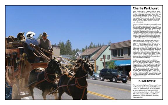 """Charlie"" Parkhurst, from Women in Tough Terrain, from Detours: Tahoe City, by Karen Atkinson"